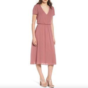 WAYF Blouson Dress Mauve